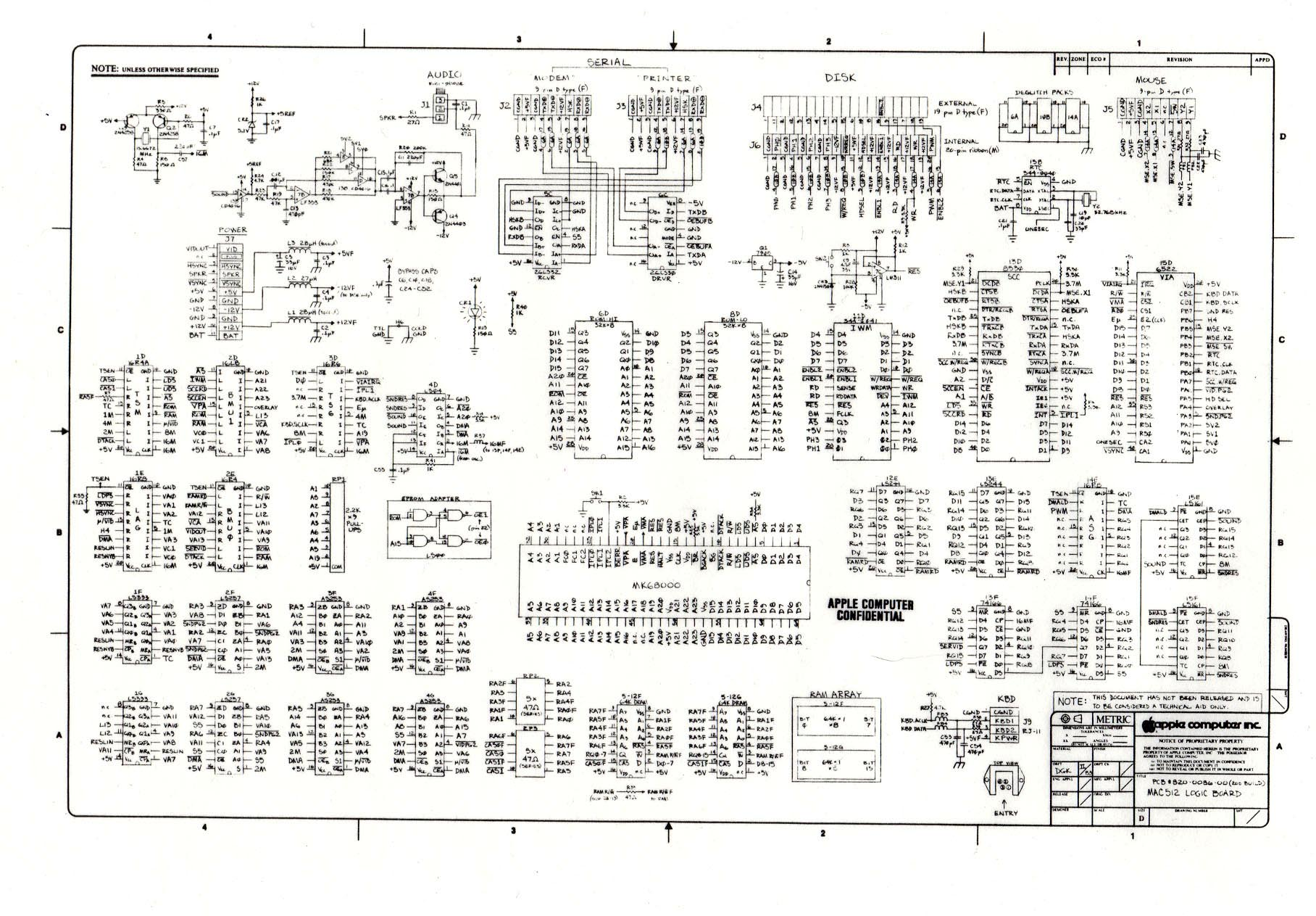 The Original Macintosh Steven M Wiring Diagram For